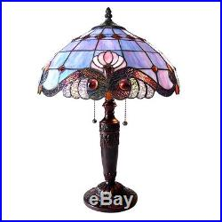 1-PAIR Chloe CH15063LV15-TL2 Vivaldi Style Stained Glass Table Lamp W 15 Shade