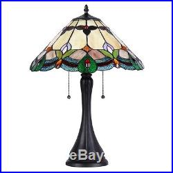 1-PAIR Chloe CH35654AF16-TL2 Tiffany Style Stained Glass Table Lamp With 16 Shade