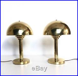 A Pair Of Brass Table Lamps Mid Century Modern Germany 1970s