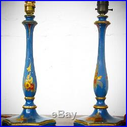 Antique Pair Of Vintage Chinoiserie Table Lamps