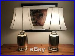 Frederick Cooper Brass Table Lamp with Shade (PAIR)