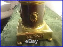 Marbro Lamp CO, Los Angeles, CA. Table lamp rare antique brass pair works good