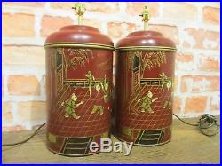 Matching Pair Of Tea Tin Caddy Large Pair Of Table Lamps Patio