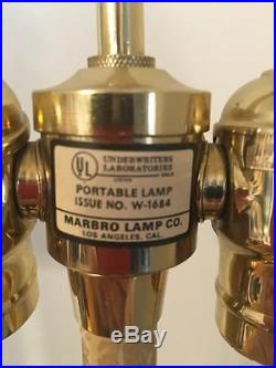 Matching Pair of Fabulous Marbro Crystal Table Lamps Hollywood Regency Style