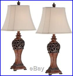 NEW Set 2 Pair Bronze Table Lamp Light Shade 30 Style Beautiful Scroll Lamps