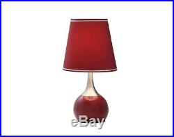 New! 2-Pair Table Lamps Modern Style Red Shade Touch Accent Lamp Light Ship Free