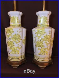 Original Pair of MARBRO Table Lamps/Mid Century/Hollywood Regency Chinoiserie