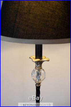 PAIR NOUVELLE French Provincial Bedside Table Lamps Light Vintage Gold Chic GIFT