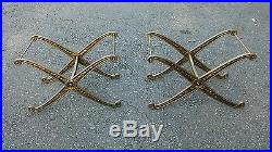 Pair Cast Metal Neo Classical Style Table Bases or Stools Mid Century