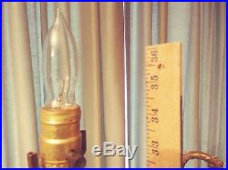 Pair- Large 20th Century Hollywood Regency Tiered Metal/Brass/Glass Prism Lamps
