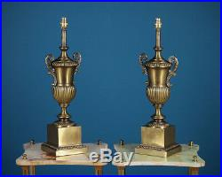 Pair Large Brass Table Lamps c. 1960