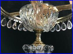 Pair Michelotti Crystal Boudoir/Parlor Table Lamps with30 Teardrop Prisms Holland
