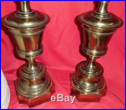 Pair Of Vintage Stiffel Brass Pineapple Table Lamps