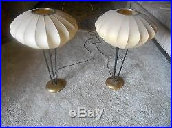 Pair RARE Authentic Mid-Century Modern Bubble Table Lamps George Nelson Miller