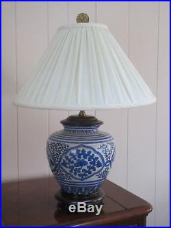 Pair Wildwood Blue and White Porcelain Lamps