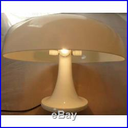 Pair of Artemide Nesso Table Lamps in Orange and White