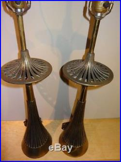 Pair of MCM Mid Century Danish Modern Atomic Jetsons Space Needle Table Lamps