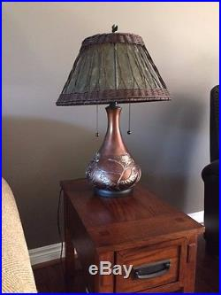 Pair of Quoizel Mica Shade Table Lamps Mission / Arts & Crafts Style MC120T