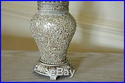Pair of Table Lamps Champagne & Sparkle Mosaic Base Champagne Shade 46cm Height