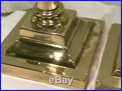 Pair of Vintage Christopher Wray Antiqued brass Reeded Column Table lamps