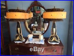 Pair of Vintage Continental Art Co. Lamps