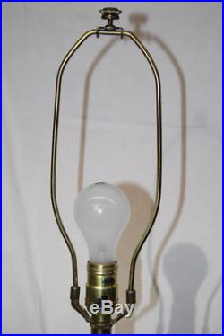 Pair of Vintage Stiffel Brass and Cut Glass Table Lamps Hollywood Regency