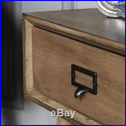 Pair of wooden 1 drawer bedside lamp table retro urban office bedroom furniture
