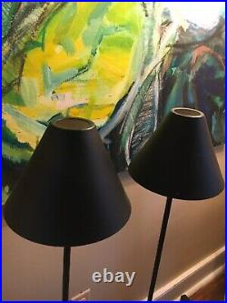 Rare Vintage Habitat Post Modern Table Lamps Pair Made In France