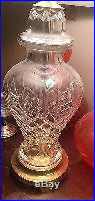 Set of 2 Waterford 28 Lismore Pattern Crystal Table Lamp PAIR TAGGED