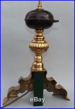 Stunning Pair French Ormolu and Bronze Table Lamps with Provenance early 19thCt