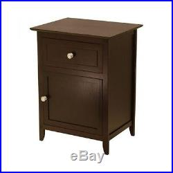 TWO ESPRESSO NIGHTSTAND Table Furniture Pair BEDSIDE STORAGE Stand Small Cabinet