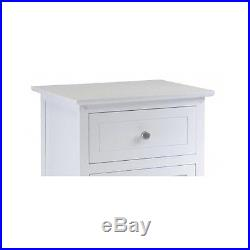 TWO WHITE NIGHTSTAND Table Furniture Pair BEDSIDE STORAGE Stand Small Cabinet