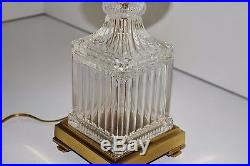Vintage Pair Of Tyndale / Frederick Cooper Chicago Glass Table Lamps With Shades