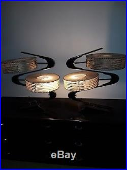Very rare Stunning Immaculate Mid Century Pair of Majestic Z Lamps 1950's