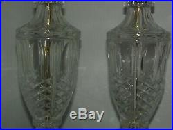 Vintage PAIR OF CRYSTAL TABLE LAMP BASE. 30 high. Shades are available
