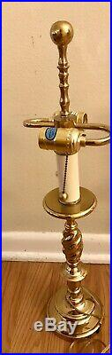 Vintage pair of Stiffel Solid Brass Table Lamps 27 Tall Nice Condition